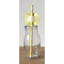 Straw Toppers - 24pcs - Yellow