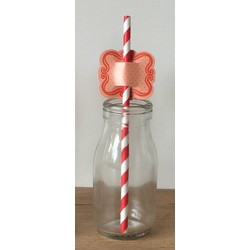 Straw Toppers - 24pcs - Red