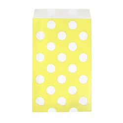 Paper Treat Bags - 12pcs - Dots - Yellow