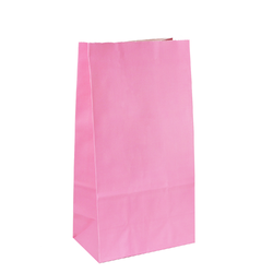 Coloured Gift Bags - Light Pink Kraft Paper Bags
