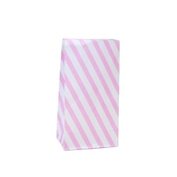 Paper Party Loot Bags - Pink Stripes