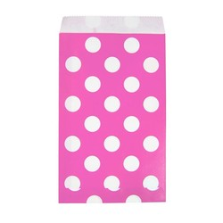 Paper Treat Bags - 50pcs - Dots - Pink