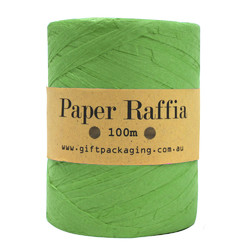 Paper Raffia - 4mm x 100metres - Lime Green