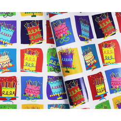 Wrapping Paper - 500mm x 60M - Birthday Cakes