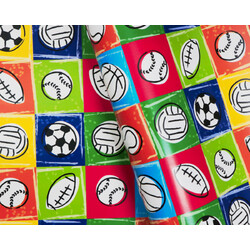 Wrapping Paper - 500mm x 60M - Sports Balls