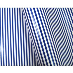 Wrapping Paper - 500mm x 60M - Navy Blue Stripes on White