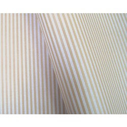 Wrapping Paper - 500mm x 60M - Kraft Brown with White Stripes
