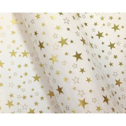 Wrapping Paper - 500mm x 60M - Gold Stars