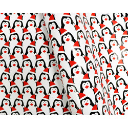 Wrapping Paper - 500mm x 60M - Christmas Wrapping Paper - Cute Penguins