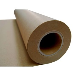 Brown Kraft Paper Roll - 600mm x 50M, 80 GSM
