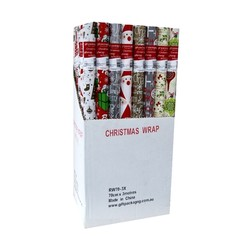 70cm x 3m - Christmas Wrapping Paper - Assortment