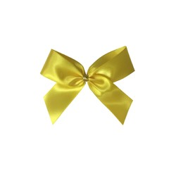 Satin Bow - 7cm - Yellow - 100pk