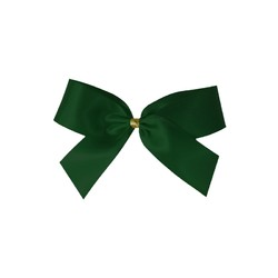 Satin Bow - 7cm - Emerald Green - 100pk