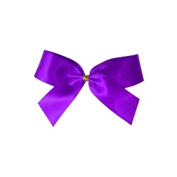 Satin Bow - 7cm - Purple - 100pk