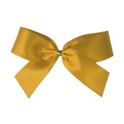 Satin Bow With Bottle Loop - 10cm - Gold - 50pk