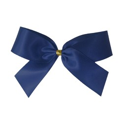 Satin Bow With Bottle Loop - 10cm - Navy Blue - 50pk