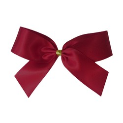 Satin Bow With Bottle Loop - 10cm - Burgundy - 50pk