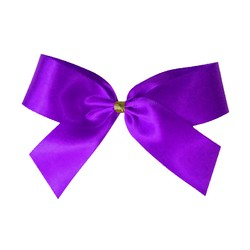 Satin Bow With Bottle Loop - 10cm - Purple - 50pk