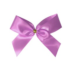 Satin Bow With Bottle Loop - 10cm - Dusty Rose - 50pk