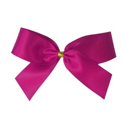 Satin Bow With Bottle Loop - 10cm - Rosebloom Pink - 50pk