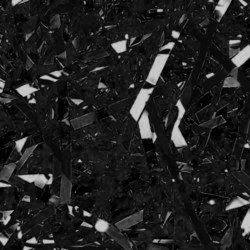Foil Metallic Shreds - 1KG - Glossy Black