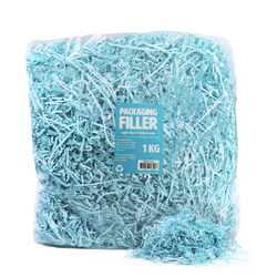 Shredded Paper Shreds Filler - 1KG - Light Blue