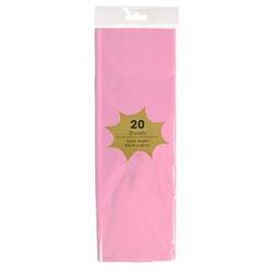 Tissue Paper - 20 Sheets - Light Pink