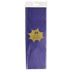 Tissue Paper - 20 Sheets - Dark Purple