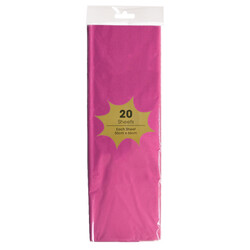 Tissue Paper - 20 Sheets - Hot Pink