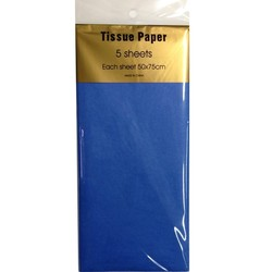 Tissue Paper - 5 sheet - Blue
