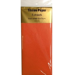 Tissue Paper - 5 sheet - Orange