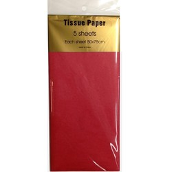 Tissue Paper - 5 sheet - Red