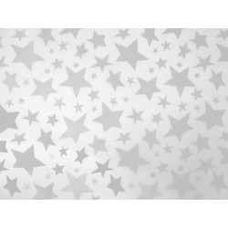 Tissue Paper Ream 750mm x 500mm, 240 Sheets -  Silver Stars