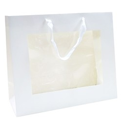 Window Gift Bag - Medium/Large Boutique Matt Finish - White
