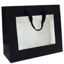 Window Gift Bag - Medium/Large Boutique Matt Finish - Black