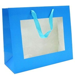 Window Gift Bag - Medium/Large Boutique Matt Finish - Blue