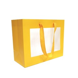Window Gift Bag - Small/Medium Boutique Matt Finish - Yellow