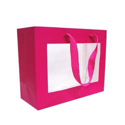 Window Gift Bag - Small/Medium Boutique Matt Finish - Pink