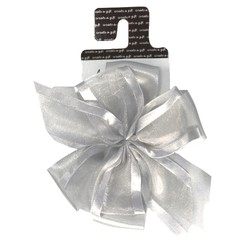 Create a gift - Luxury Double Bow - Silver