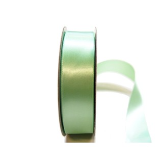 Satin Ribbon - Woven Edge -25mm x 30m - Mint