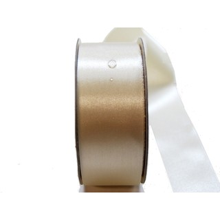 Water Repellent Satin Ribbon - 38mm x 45m - Ivory
