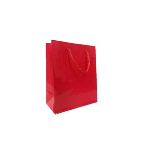 Gift Carry Bags - Glossy Red - Small/Medium