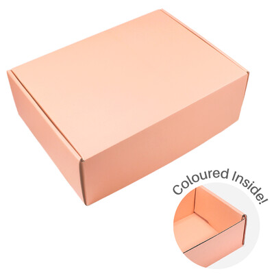 Large Premium Mailing Box | Gift Box - All in One - Apricot