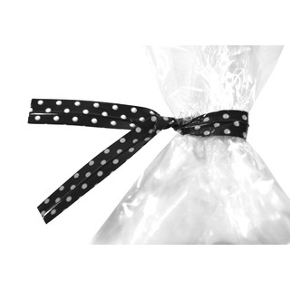 Twist Ties - 50pcs - Dots - Black