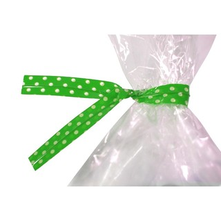 Twist Ties - 50pcs - Dots - Green