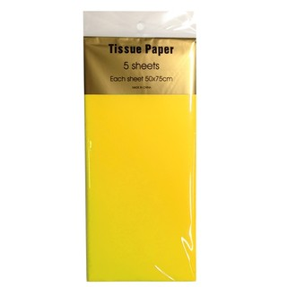 Tissue Paper - 5 sheet - Yellow