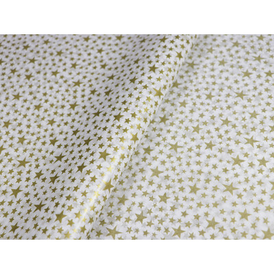 Tissue Paper Ream 750mm x 500mm, 240 Sheets -  Gold Stars